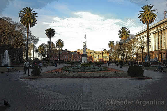 A picture of Argentina's Casa Rosada, the government house
