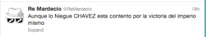 Hugo Chavez's daughter tweets about Obama election