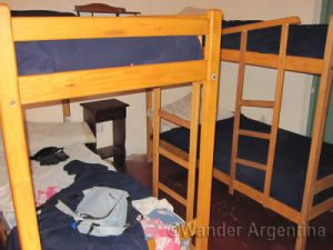 picture of a hostel room in buenos aires