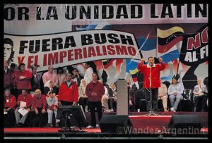 Chávez at Buenos Aires anti-imperialist rally in Buenos Aires, 2007