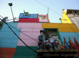 A building in the La Boca neighborhood of Buenos Aires Argentina