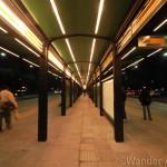 Buenos Aires new metrobus station along 9 de Julio