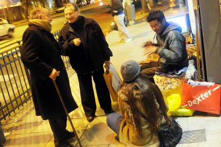 Alejandro 'Pechito' Ferreiro talks with neighbors on 'his corner' in Palermo