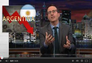 John Oliver describing Argentina's default