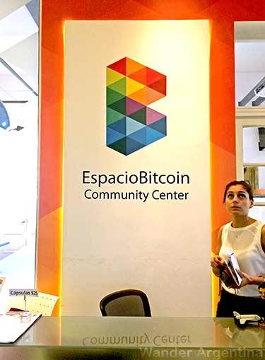 Inside the Espacio Bitcoin Community Center in Buenos Aires, Argentina