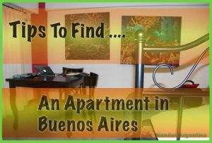Tips to find an apartment in Buenos Aires (with sample rental property in background)