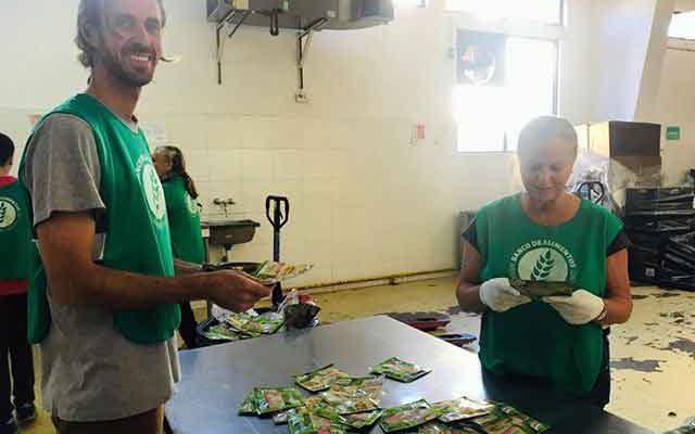 Volunteer at 'The Food Bank'