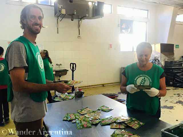 Volunteer at 'The Food Bank'